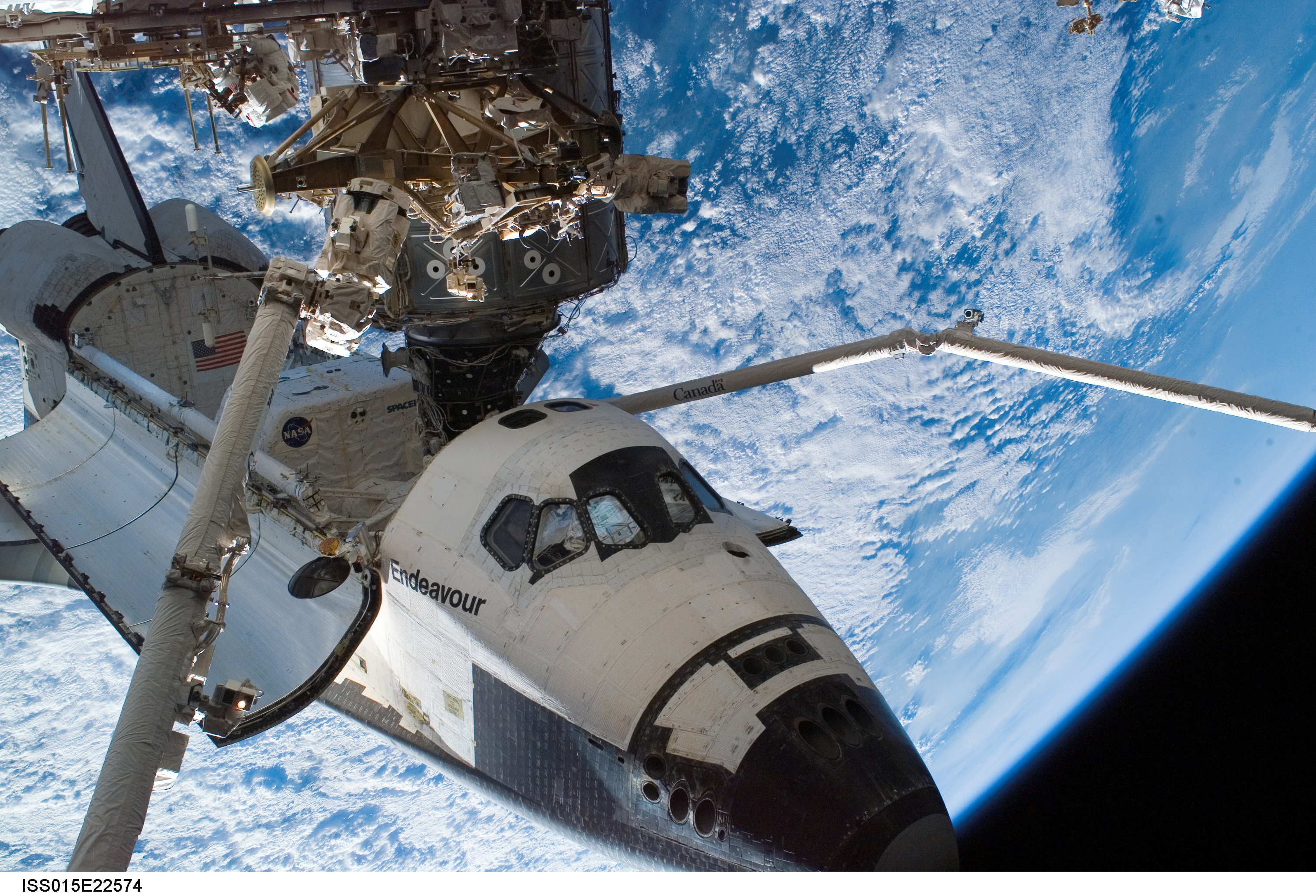 Space Shuttle And Iss The Space Shuttle Atlantis